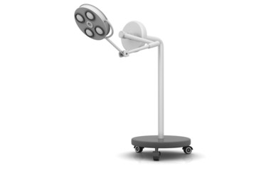 3d render of Surgical lamps .