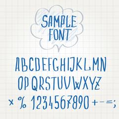 hand font Alphabet sketch vector