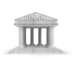 Bank Icon isolated on white background