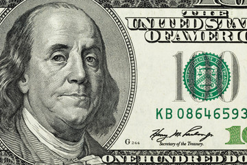 close up photo of one hundred dollar note