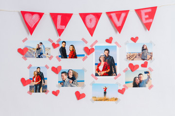 Valentine's day photo wall decoration