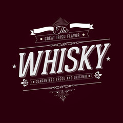 Hand crafted whisky lettering for label and packaging