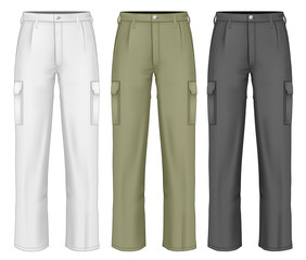 Men work trousers.