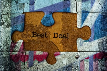 Best deal puzzle concept