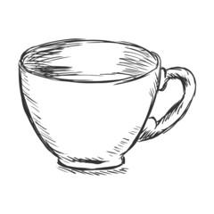 Vector Single Sketch Cup of Coffee
