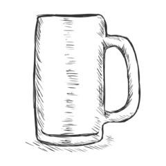 Vector Single Sketch Beer Tankard