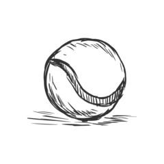 Vector Single Sketch Tennis Ball