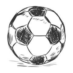 Vector Single Sketch Football Ball