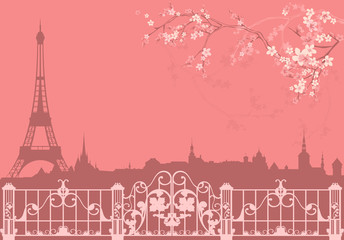 spring Paris background