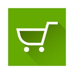 Shopping cart icon great for any use. Vector EPS10.