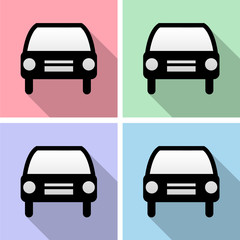 Car icons set great for any use. Vector EPS10.