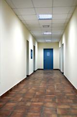 long corridor modern office building