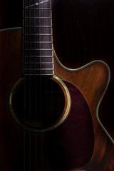 Lowkey acoustic guitar,still life.