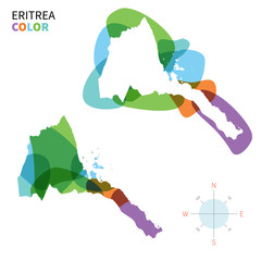 Abstract vector color map of Eritrea