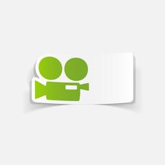 realistic design element: movie camera
