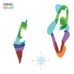 Abstract vector color map of Israel