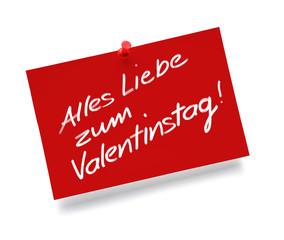 Notiz- Valentinstag