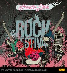 eps Vector image: ROCK FESTIVAL MUSIC LIVE