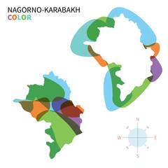Abstract vector color map of Nagorno-Karabakh