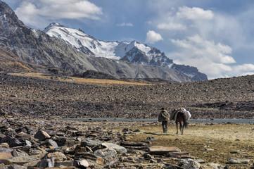 Arid valley in Tajikistan