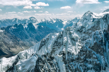 Mountain peaks in Pamir