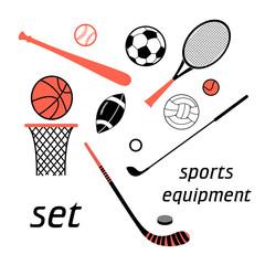 sports items set