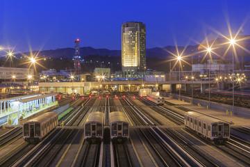In de dag Los Angeles Metro of Los Angeles