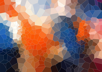 Tial Orange bright abstract triangle image