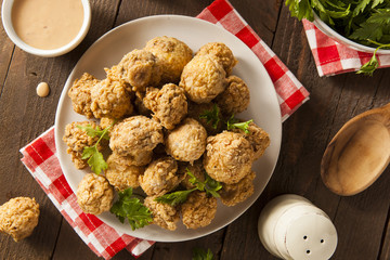 Homemade Deep Fried Mushrooms
