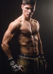 Muscular man portrait