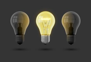 Idee Glühbirne dunkel