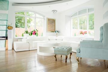 Designer armchair in luxury interior