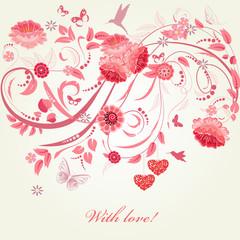 romantic greeting card Happy Valentine's Day