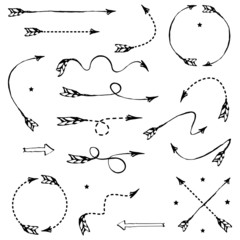 Set of black graphic arrows for your design