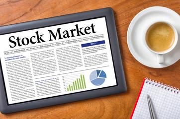 Tablet on a desk - Stock Market