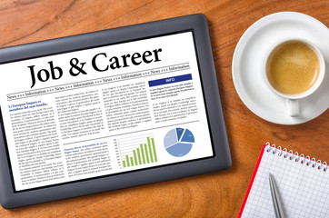 Tablet on a desk - Job and Career
