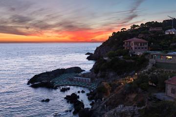 Talamone, Tuscany - Coast at the sunset