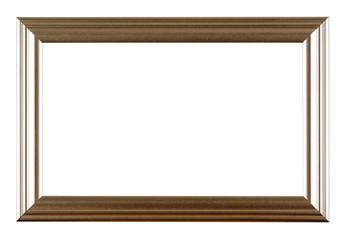 Empty frame isolated on white
