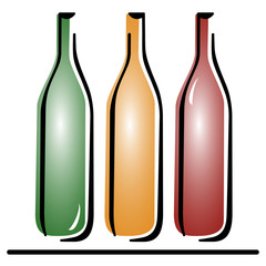 Three Vector bottles