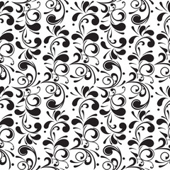 Seamless floral pattern, endless repetition