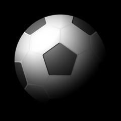 soccer ball black