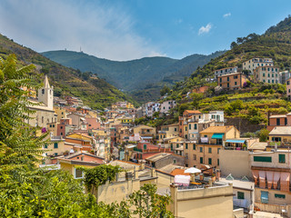 View over Riomaggiore, One of the Cinque Terre Villages in Italy