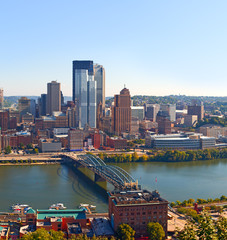 Pittsburgh Pennsylvania USA, skyline panorama