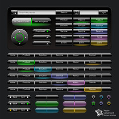 Web Navigation Glow Buttons