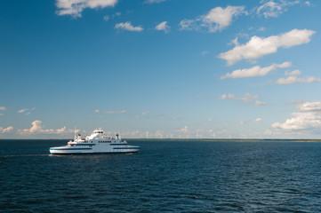 Passenger ferry ship.