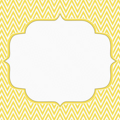 Yellow and White Chevron Zigzag Frame Background