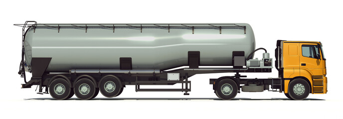 Cement Truck. Isolated. Side view