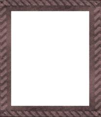 brown leather handmade  frame