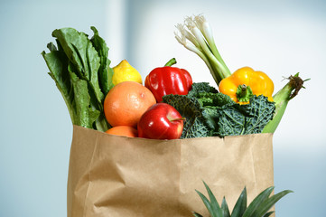 Produce in Grocery Bag