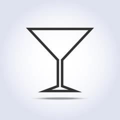 Wine glass simple web icon